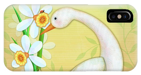 D Is For Duck And Daffodils IPhone Case