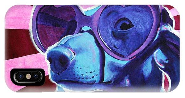 Dachshund - Puppy Love IPhone Case