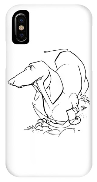 Dachshund Gesture Sketch IPhone Case