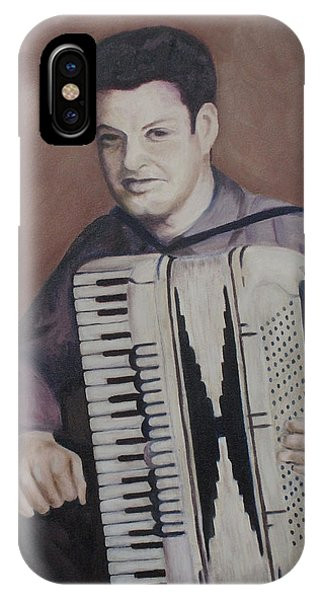 Daddy And His Accordion IPhone Case