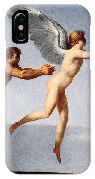 Bravery iPhone Case - Daedalus And Icarus, 1799 by Charles Paul Landon