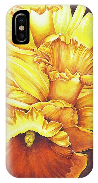 Daffodil Drama IPhone Case