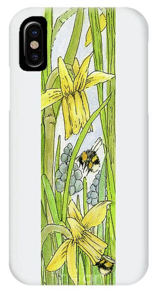 Daffodils And Bees IPhone Case