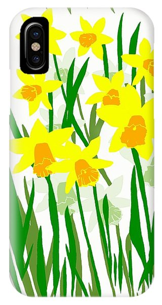 Daffodils Drawing IPhone Case