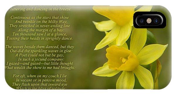Daffodils Poem By William Wordsworth IPhone Case
