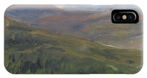 Dagrar Over Salenfjallen - Shifting Daylight Over Distant Horizon 1 Of 10_0034 50x50 Cm IPhone Case