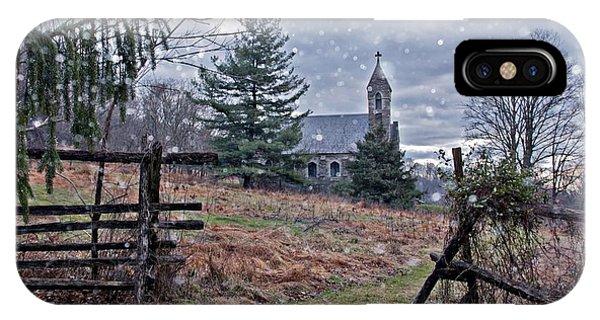 Dahlgren Chapel Winter Scene IPhone Case