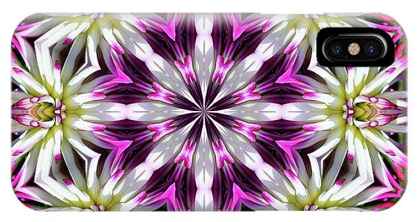 Dahlia Flower Circle IPhone Case