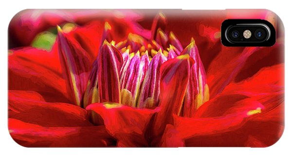 Dahlia Study 1 Painterly IPhone Case