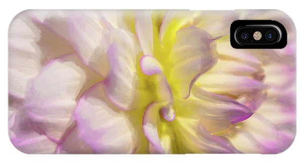 Dahlia Study 5 Painterly  IPhone Case