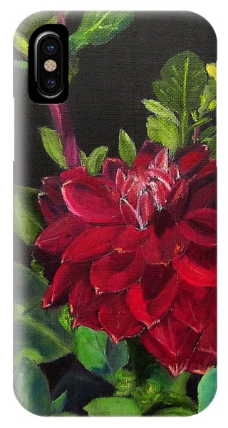 IPhone Case featuring the painting Dahlias In My Garden by Linda Feinberg