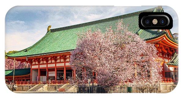 Daigukuden Main Hall Of Heian Jingu Shrine IPhone Case
