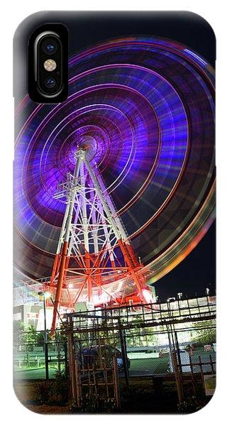 Odaiba iPhone Case - Daikanransha Ferris Wheel In Odaiba Tokyo Japan 3 by Ron Brown Photography