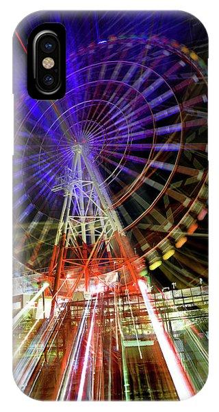 Odaiba iPhone Case - Daikanransha Ferris Wheel In Odaiba Tokyo Japan 4 by Ron Brown Photography