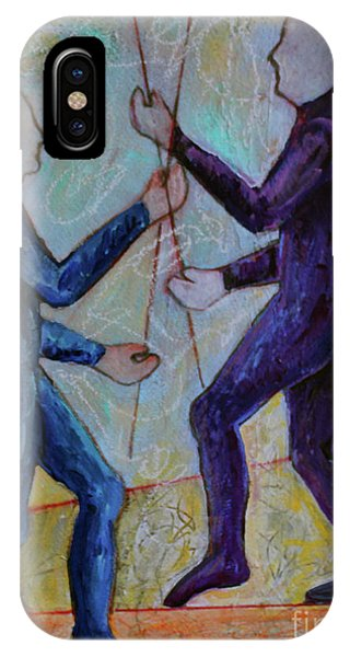 IPhone Case featuring the painting Daily Balancing by Priti Lathia