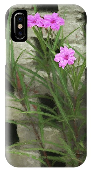 IPhone Case featuring the photograph Dainty Pink by Penny Lisowski