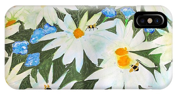 Daisies And Bumblebees IPhone Case