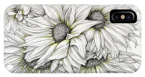 Sunflowers Pencil IPhone Case