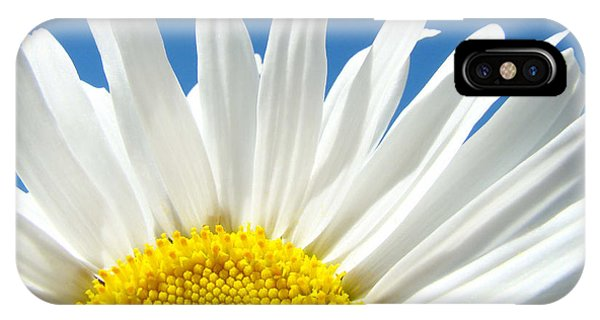 Daisy Art Prints White Daisies Flowers Blue Sky IPhone Case
