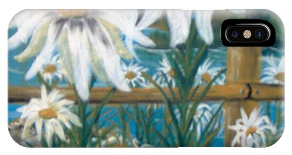 IPhone Case featuring the painting Daisy Dance by Saundra Johnson