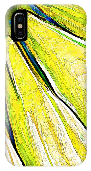 Daisy Petal Abstract In Lemon-lime IPhone Case