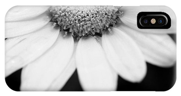 Daisy Smile - Black And White IPhone Case