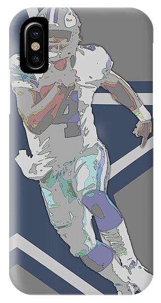 Dak Prescott Dallas Cowboys Contour Art IPhone Case