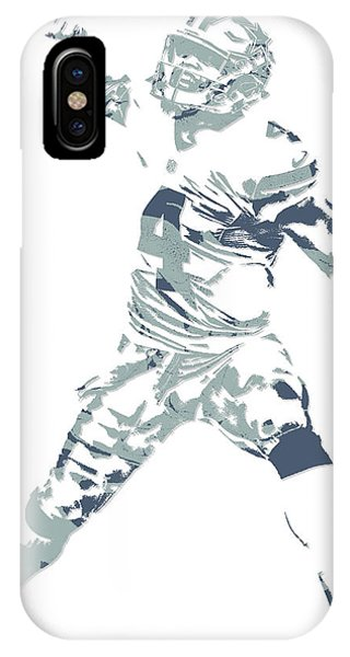 Dak Prescott Dallas Cowboys Pixel Art 10 IPhone Case
