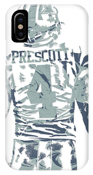 Dak Prescott Dallas Cowboys Pixel Art 12 IPhone Case