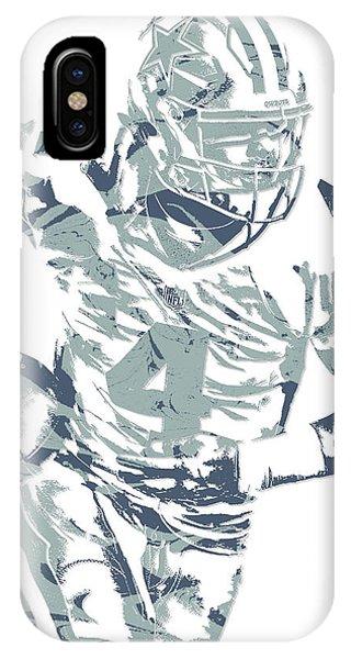 Dak Prescott Dallas Cowboys Pixel Art 14 IPhone Case