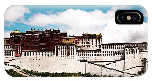 Kora iPhone Case - Dalai Lama Home Place. Potala Palace  Kailash Yantra.lv 2016 Tibet by Raimond Klavins