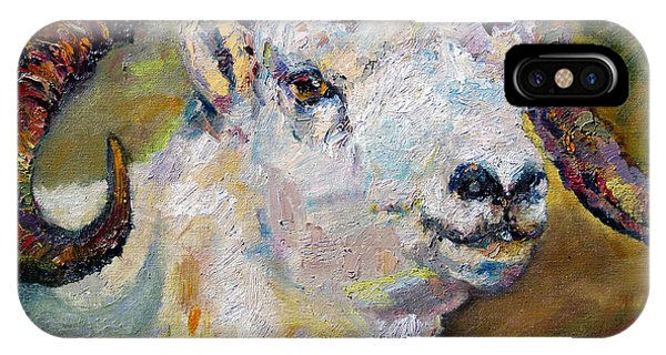 Dall Sheep Ram Oil Painting IPhone Case