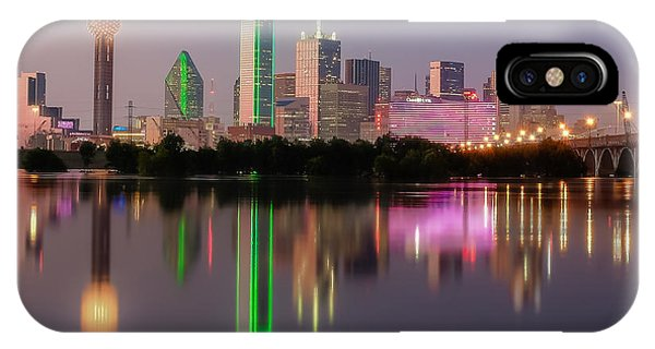 Dallas City Reflection IPhone Case