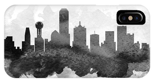 Dallas Cityscape 11 IPhone Case