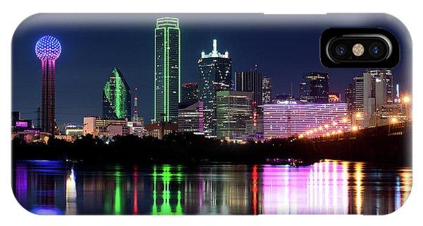 Dallas Colorful Night 52716 IPhone Case