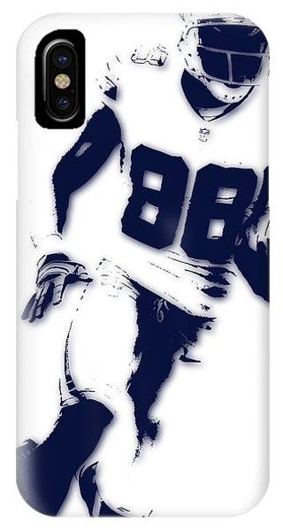 Texas iPhone Case - Dallas Cowboys Dez Bryant by Joe Hamilton