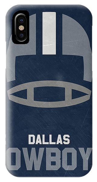 Ball iPhone Case - Dallas Cowboys Vintage Art by Joe Hamilton