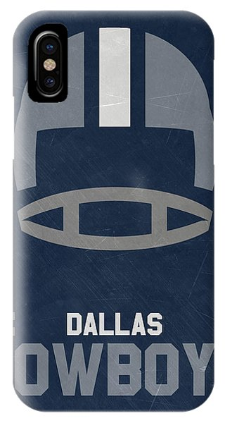 University iPhone Case - Dallas Cowboys Vintage Art by Joe Hamilton