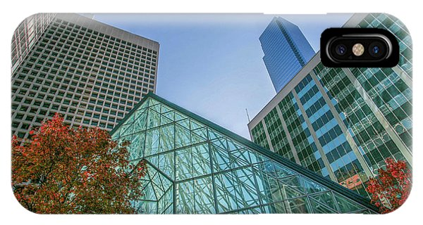 IPhone Case featuring the photograph Dallas Crystal Court Pyramid  by Kyle Findley