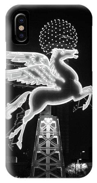Dallas Pegasus Bw 121517 IPhone Case