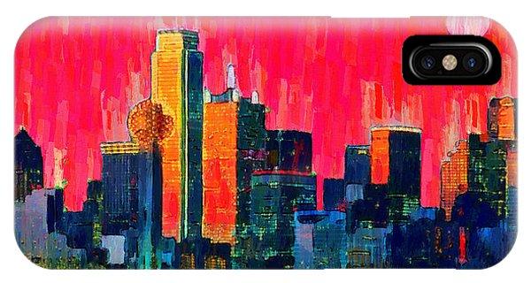 Dallas Skyline 71 - Pa IPhone Case
