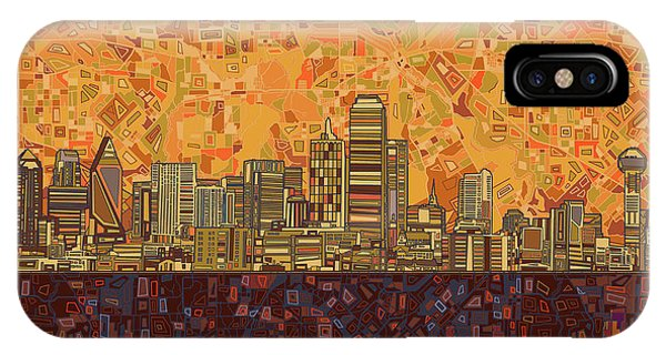 Dallas Skyline Abstract IPhone Case