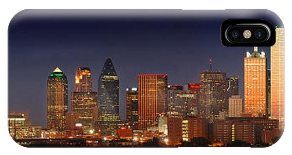 Texas iPhone Case - Dallas Skyline At Dusk  by Jon Holiday