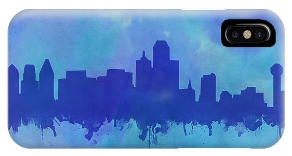 Dallas Skyline Blue 2 IPhone Case