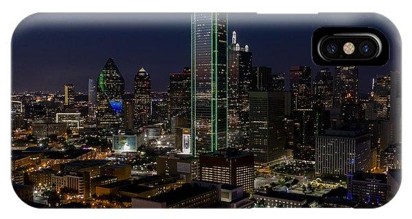 Dallas Skyline Evening Glow IPhone Case
