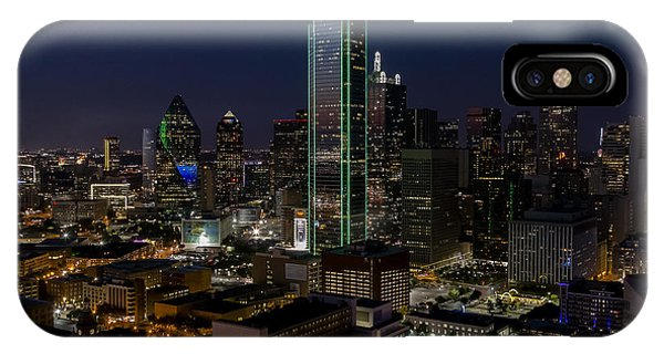 Dallas Skyline Evening Glow IPhone Case