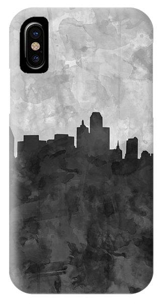 Dallas Skyline Grunge Black And White IPhone Case