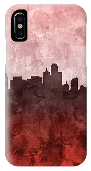 Dallas Skyline Grunge Red IPhone Case