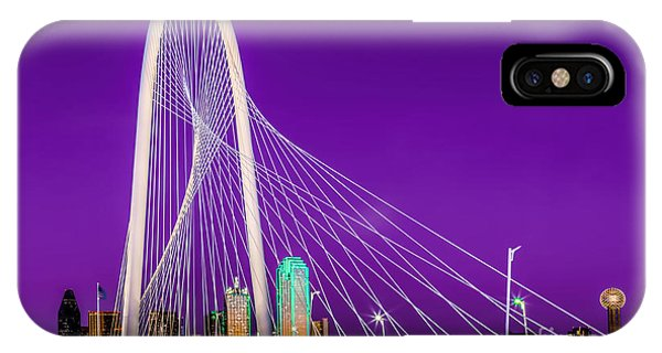 Dallas Skyline Purple IPhone Case