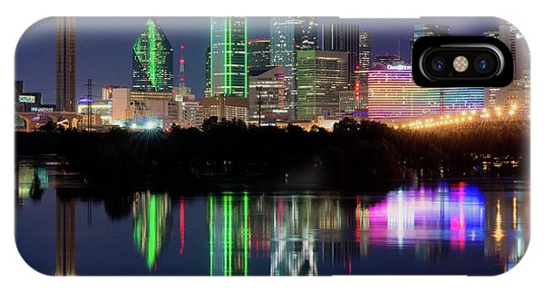 Dallas Skyline Reflection 91317 IPhone Case